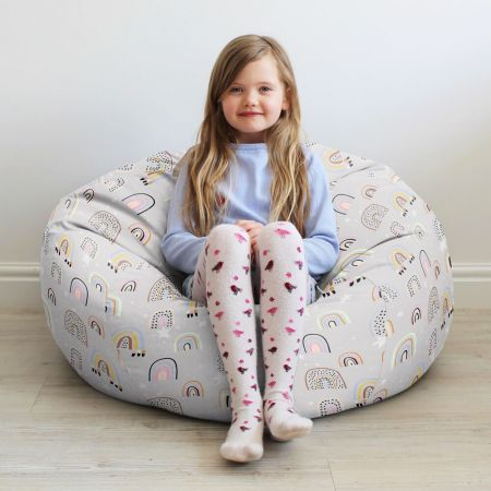 Rainbow and Stars Kids Beanbag Medium