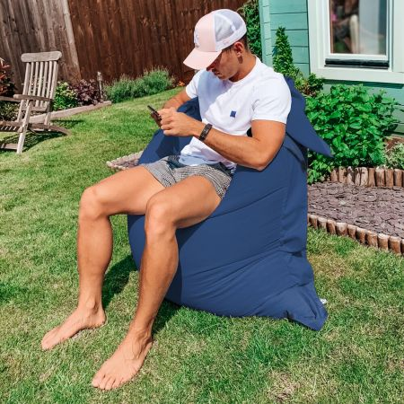 Indoor/Outdoor Squashy Squarbie© Giant Outdoor Royal Blue Beanbags