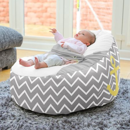 Sailor Gaga Plus Baby to Junior Beanbag In Grey and Yellow