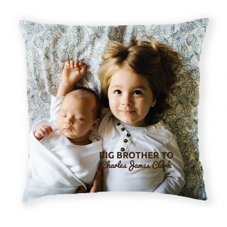 Personalised Sibling Cushion Front View