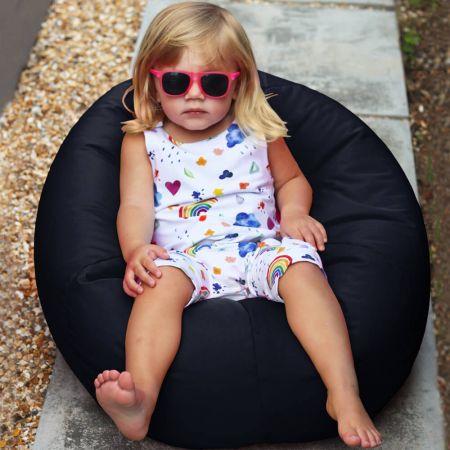 Small Kids Indoor/Outdoor Beanbag in Navy Blue
