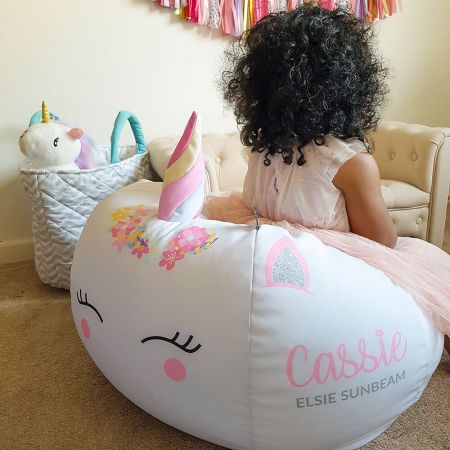 3D Horn Unicorn Kids Beanbag