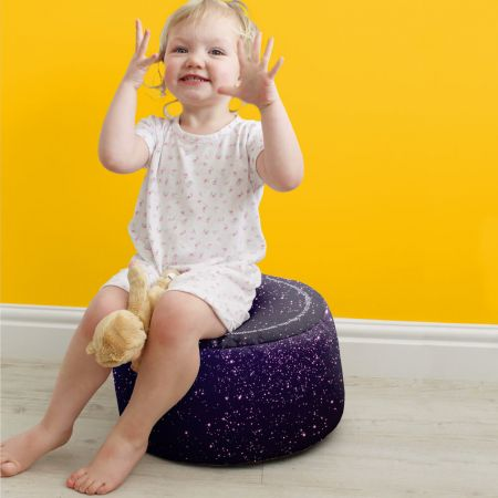 Space Galaxy Kids Beanbag Stool