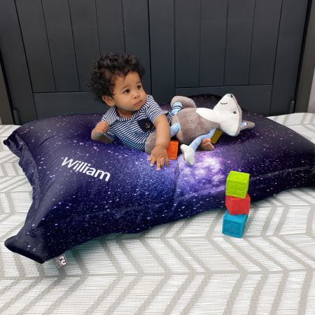 Space Galaxy Squarbie kids bean bag
