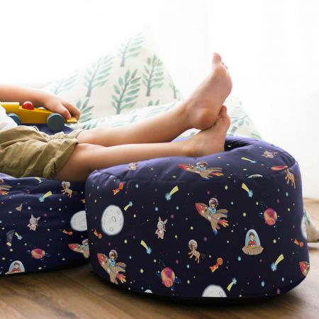 Belle & Boo Space Adventure Kids Beanbag Stool