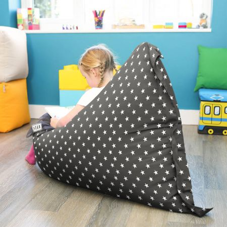Stras Squarbie Beanbag in Charcoal Grey