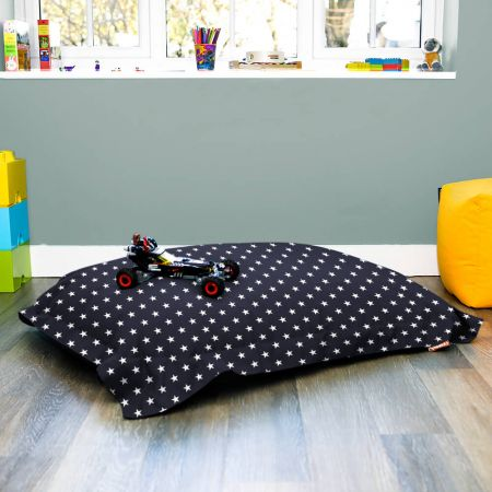 Navy Blue Junior Squarbie Beanbag