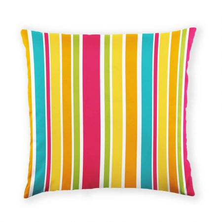 Summer Stripe Outdoor Cushion Front View