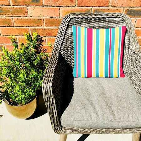 Summer Stripes Cushion - Beside The Seaside Indoor/Outdoor