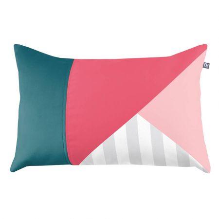 Geometric Block Cushion - Pink