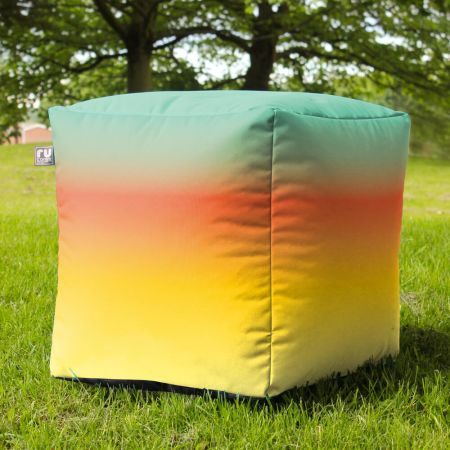 Tequila Sunrise Bean Bag Cube