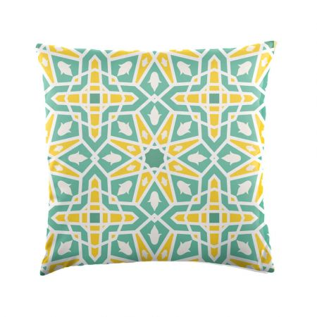 Moroccan Tile Scatter Cushion - Indoor/Outdoor