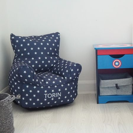 Navy Stars Toddler Chair