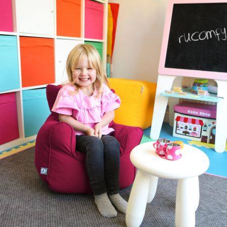 Toddler Armchair in Cerise Pink
