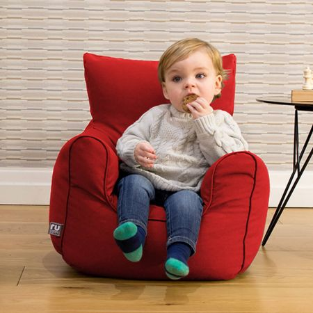 Toddler Armchair Bean Bag in Red