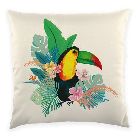 Toucan Cushion Front View