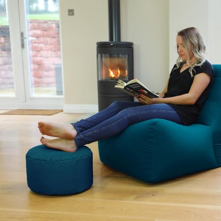 Bigger Better Round Footstool Beanbag