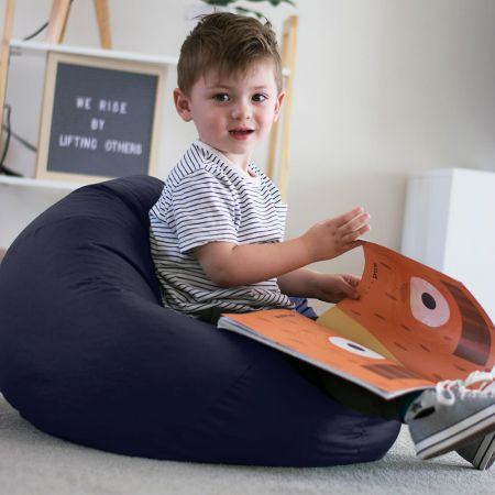 Trend Small Kids Beanbag In Navy Blue