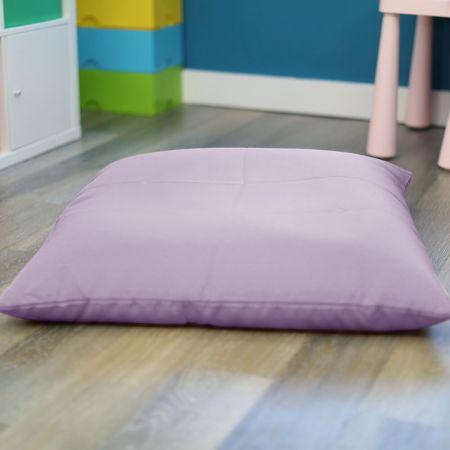 Lilac Kids Trend Square Floor Cushion Bean Bag