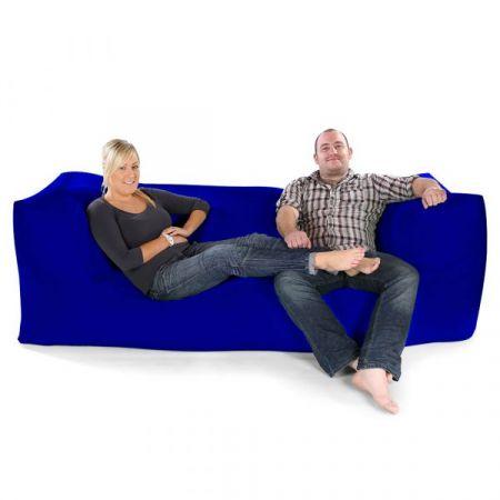 Three Seater Beanbag Sofa - Trend - Royal Blue