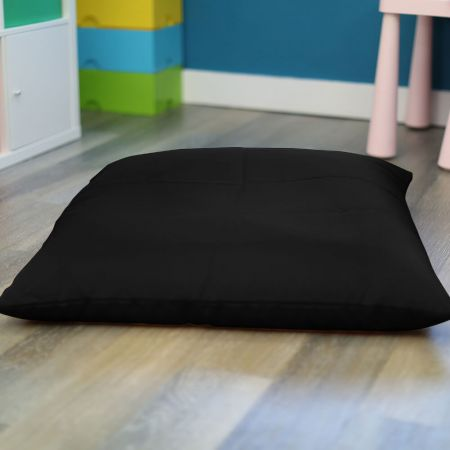 Black Trend Adult Square Floor Cushion