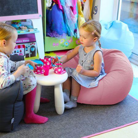 Baby Pink Comfy Small Kids Bean Bag