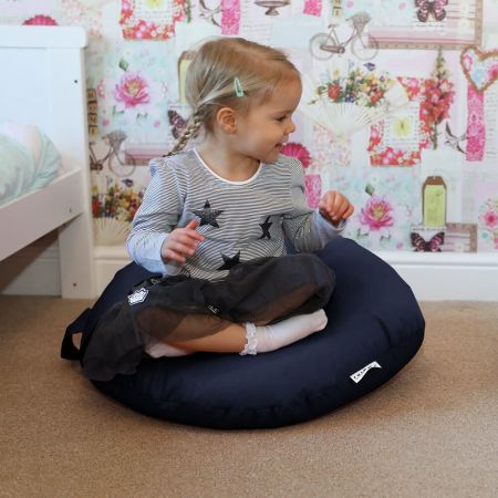 Navy Kids Trend Smarty Floor Cushion Bean Bag