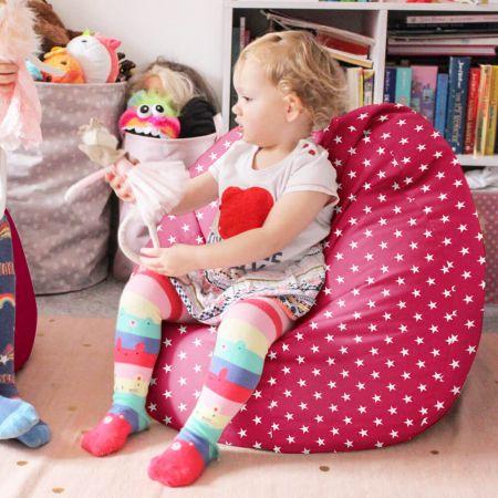 Comfy Kids Classic Stars Bean Bag Cerise Pink