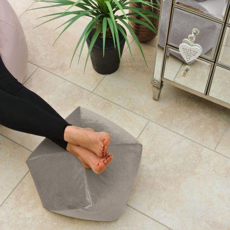 Origami Velvet Footstool