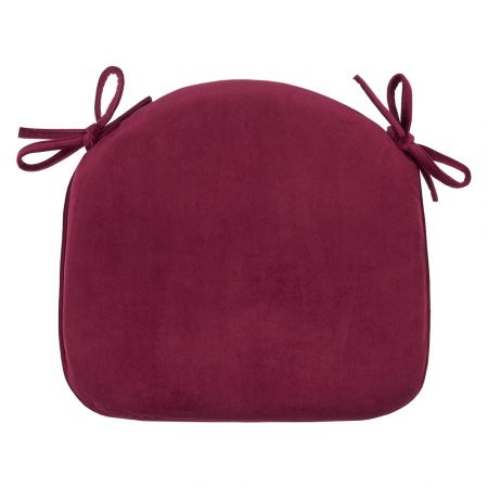 Pack of 2 - Velvet Seat Pad - Berry