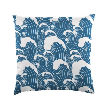 Wave print scatter cushion - Indoor/Outdoor