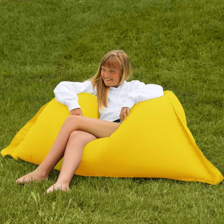 Extra Large Squarbie Beanbag - Indoor / Outdoor - Yellow