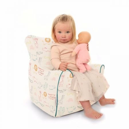 Colouful Zoo Animals Toddler Beanbag Chair