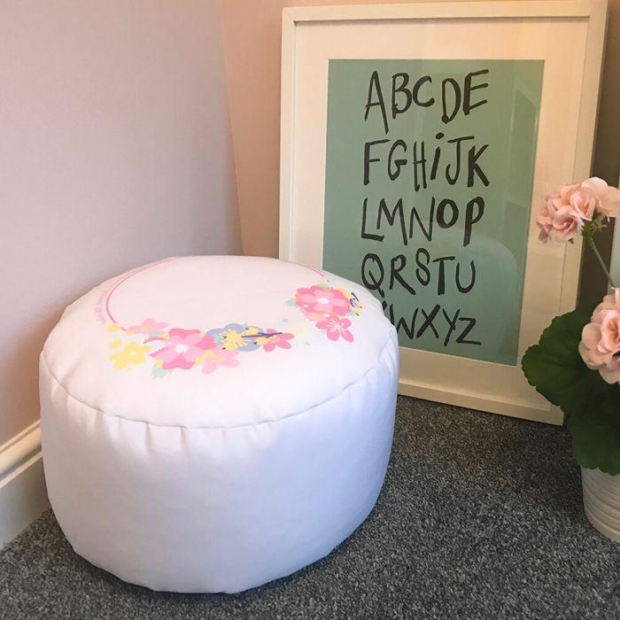 Brilliant Unicorn Round Footstool Bean Bag Machost Co Dining Chair Design Ideas Machostcouk