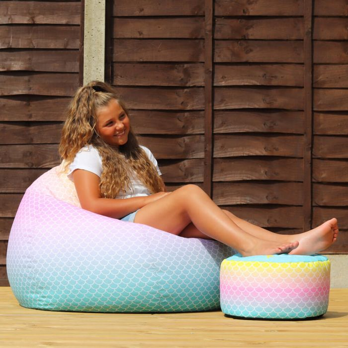 Outstanding Mermaid Ombre Extra Large Classic Beanbag Machost Co Dining Chair Design Ideas Machostcouk