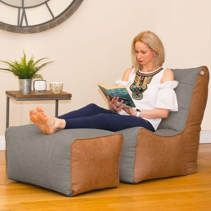 Astounding Barley Busby Bean Bag Chair Ottoman Set Creativecarmelina Interior Chair Design Creativecarmelinacom
