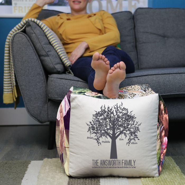 Stupendous Personalised Family Tree Cube Beanbag Evergreenethics Interior Chair Design Evergreenethicsorg