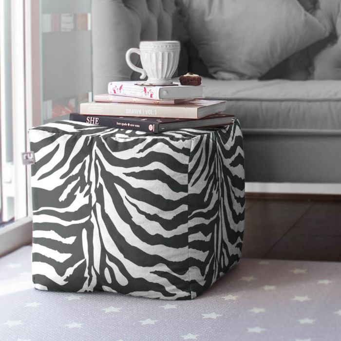 Awesome Animal Print Faux Suede Cube Footstool Rucomfy Beanbags Pdpeps Interior Chair Design Pdpepsorg