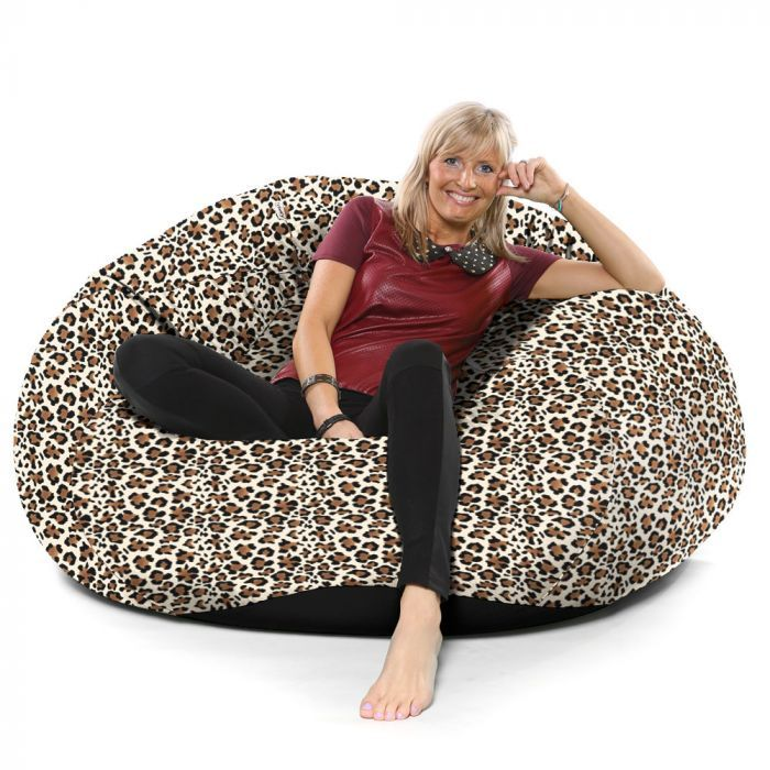 Awesome Goliath Beanbag Faux Suede Animal Print Evergreenethics Interior Chair Design Evergreenethicsorg