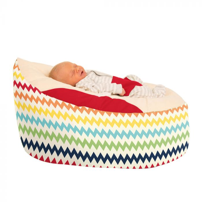 Awesome Zig Zag Printed Gaga Baby Bean Bag Rucomfy Beanbags Machost Co Dining Chair Design Ideas Machostcouk