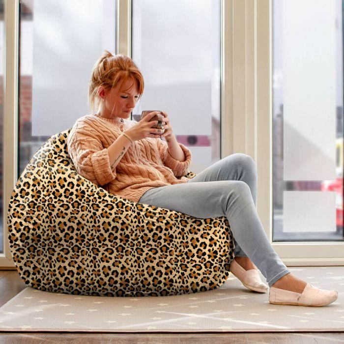 Fantastic Animal Print Faux Suede Slouchbag Bean Bag Rucomfy Beanbags Evergreenethics Interior Chair Design Evergreenethicsorg