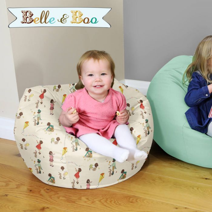 Super Classic Belle And Boo Small Kids Bean Bag Bralicious Painted Fabric Chair Ideas Braliciousco