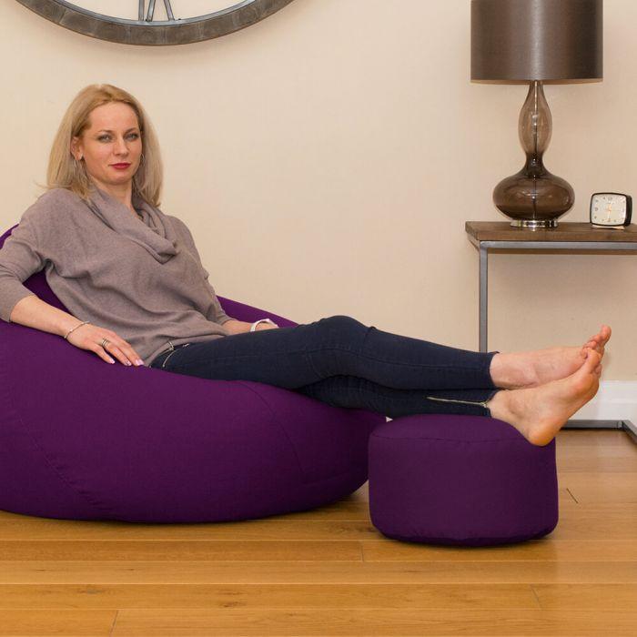 Enjoyable Round Footstool Bean Bag Trend Uwap Interior Chair Design Uwaporg