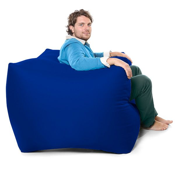 Royal Blue Comfy Fixed Modular Arm Chair Bean Bag