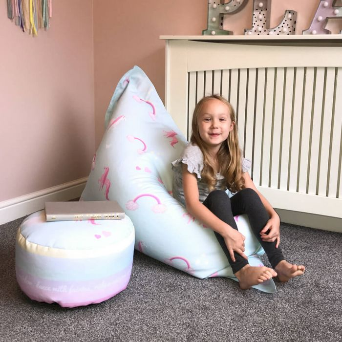 Magnificent Unicorn Squashy Squarbie Beanbag Junior Machost Co Dining Chair Design Ideas Machostcouk
