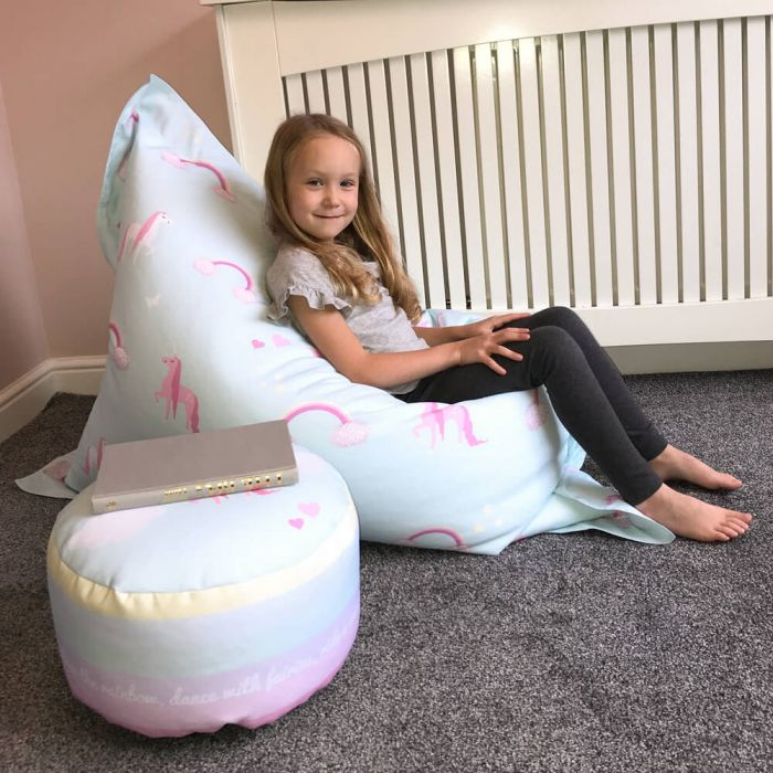 Awesome Unicorn Squashy Squarbie Beanbag Junior Machost Co Dining Chair Design Ideas Machostcouk
