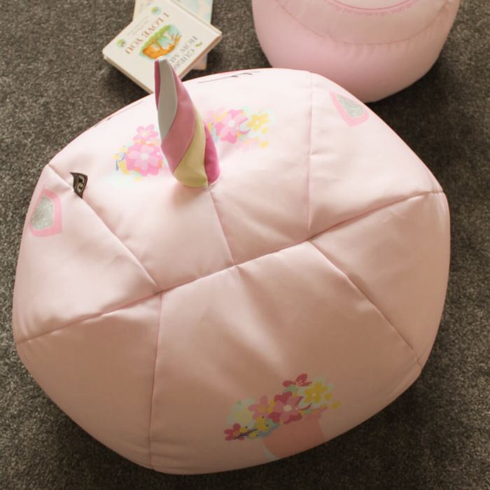 Outstanding 3D Kids Unicorn Beanbag Small Baby Pink Machost Co Dining Chair Design Ideas Machostcouk