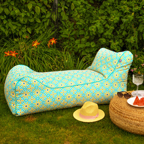 Moroccan Beanbag Lounger Outdoors