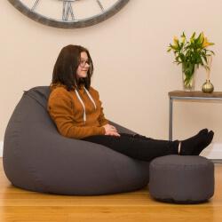 Grey trend footstool used a footstool