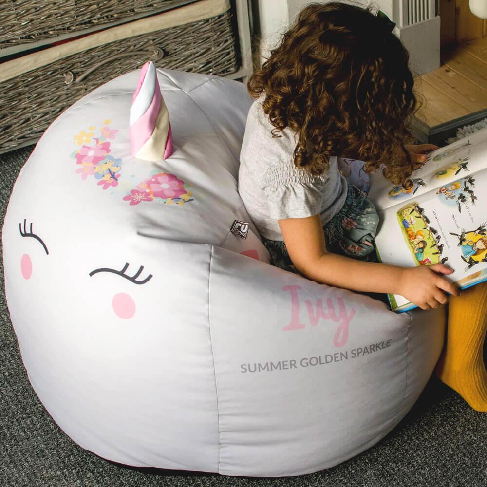 Personalised 3D Unicorn Bean Bag